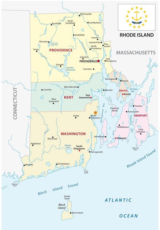 Карта Род-Айленда 2