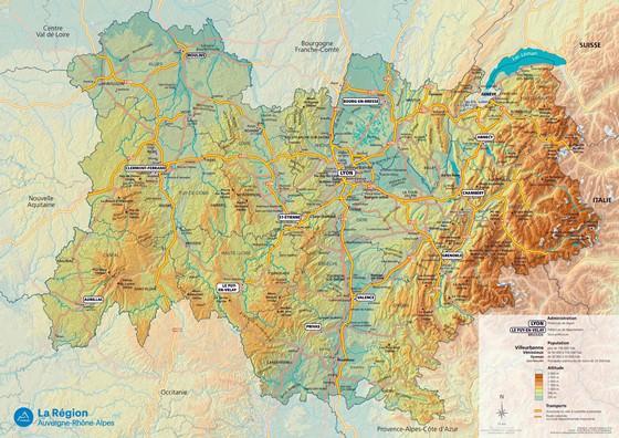 Karte von Rhône-Alpes 1