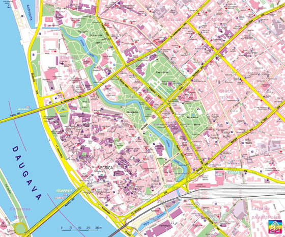 Large map of Riga 1