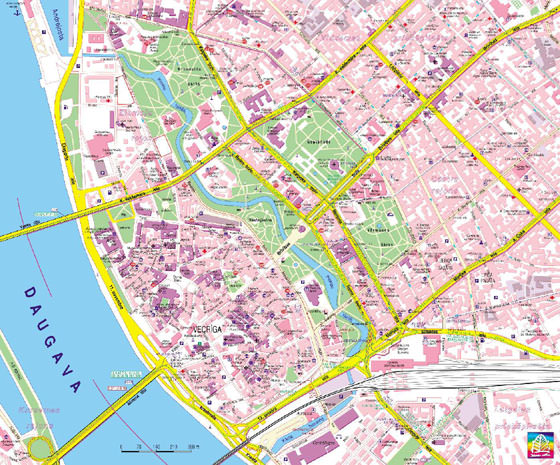 Detailed map of Riga 4