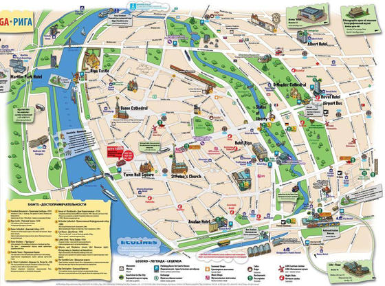 Large map of Riga 5
