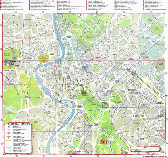 Detailed map of Rome 2