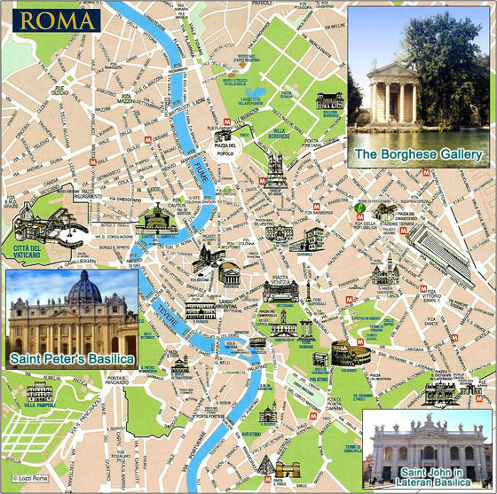 Detailed map of Rome 4