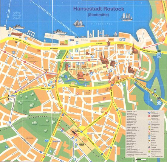 Gran mapa de Rostock 1