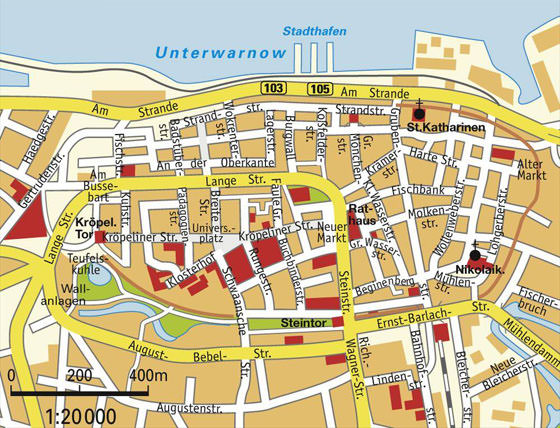 Mapa detallado de Rostock 2