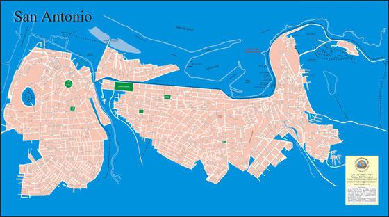 Detaillierte Karte von San Antonio 2