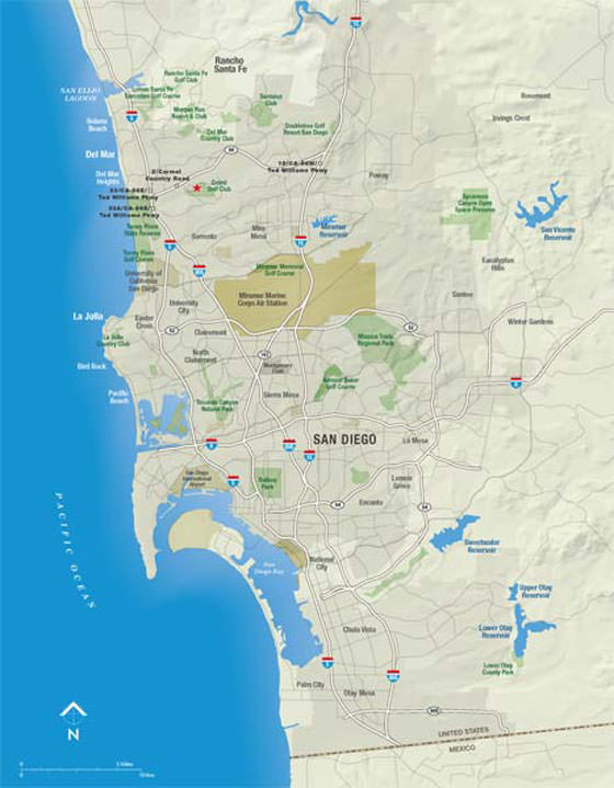 Large map of San Diego 1