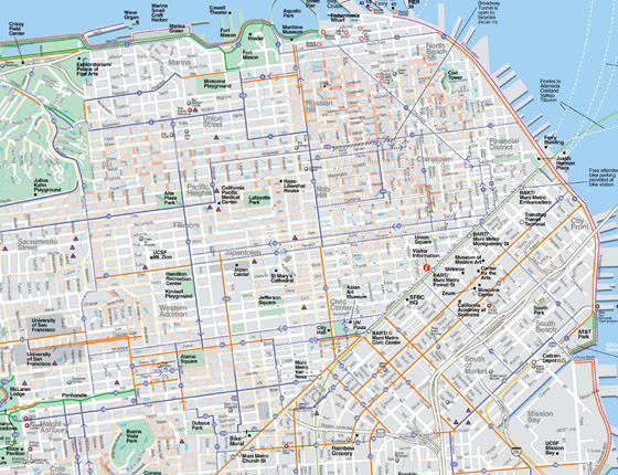Large map of San Francisco 1