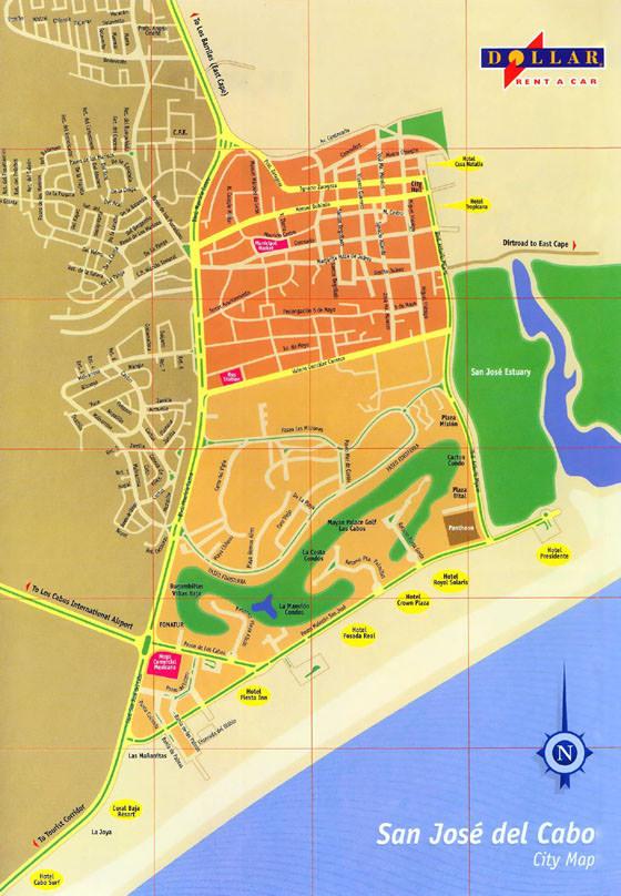 Große Karte von San Jose del Cabo 1