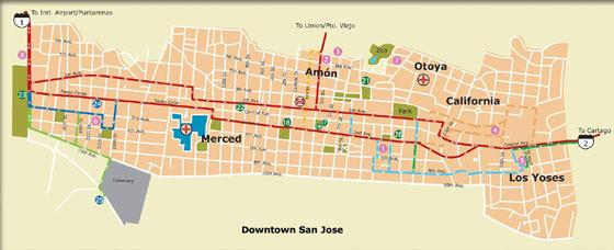 Детальная карта Сан-Хосе 1