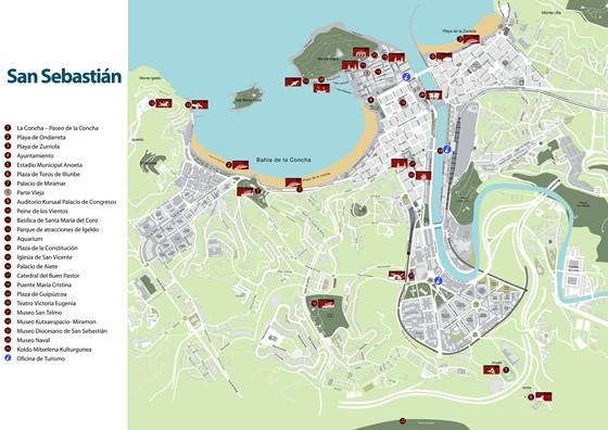 San Sebastian map 1