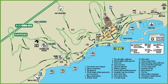 Mapa de Sanremo  1