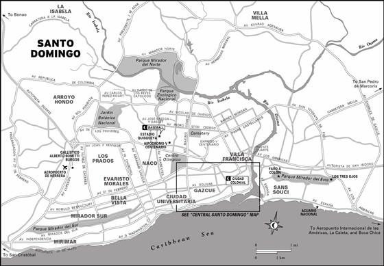 Large map of Santo Domingo 1