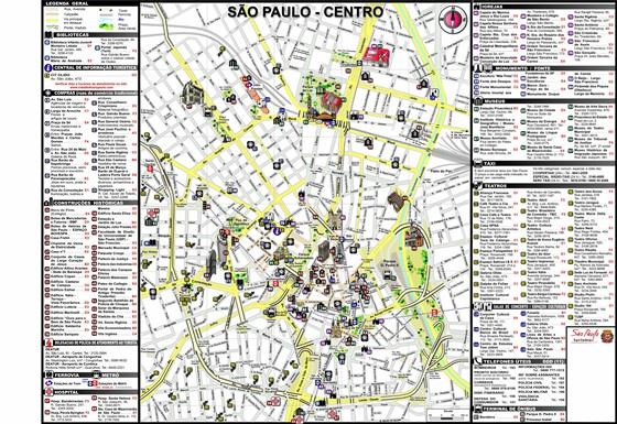 Detailed map of Sao Paulo 2