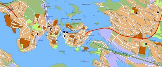 Große Karte von Savonlinna 1