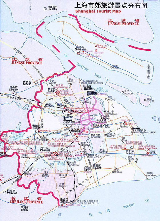 Detailed map of Shanghai 4