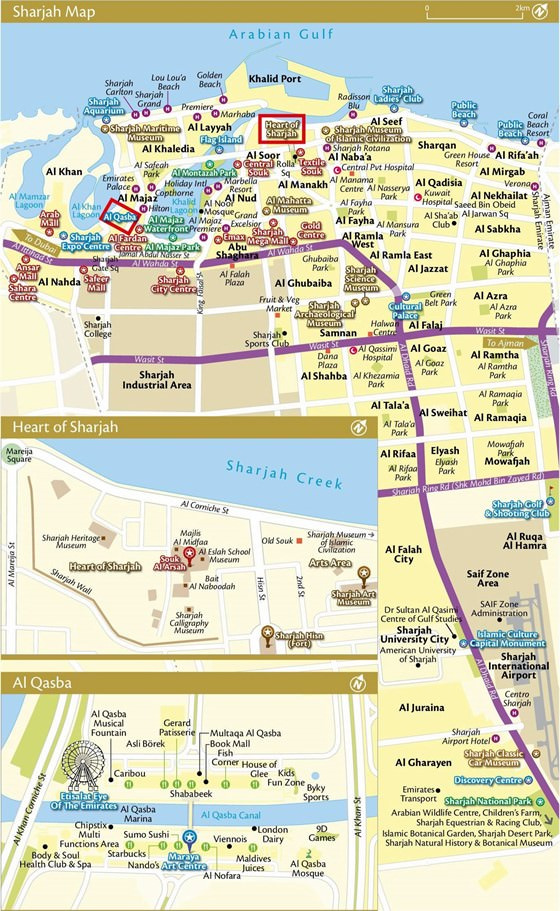 Large map of Sharjah 1