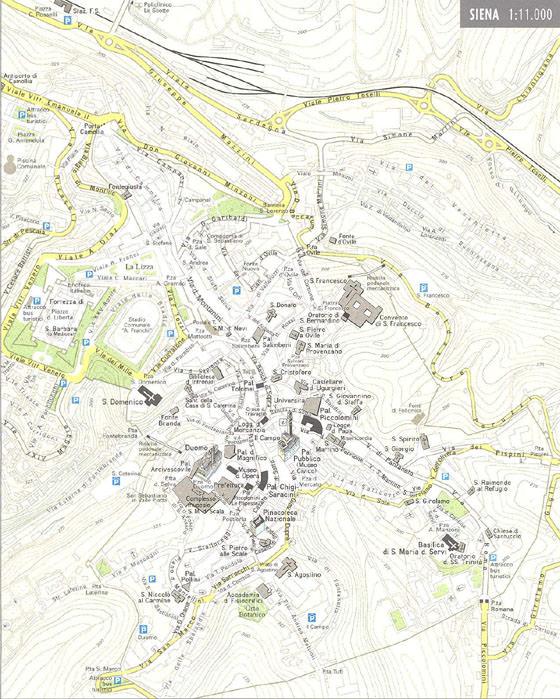 Karte von Siena 1