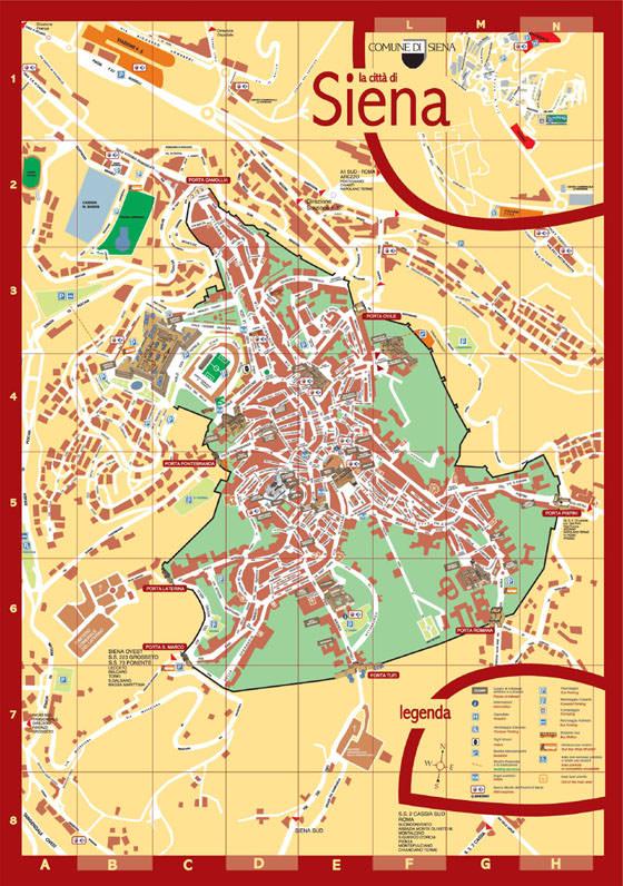 Karte von Siena 3