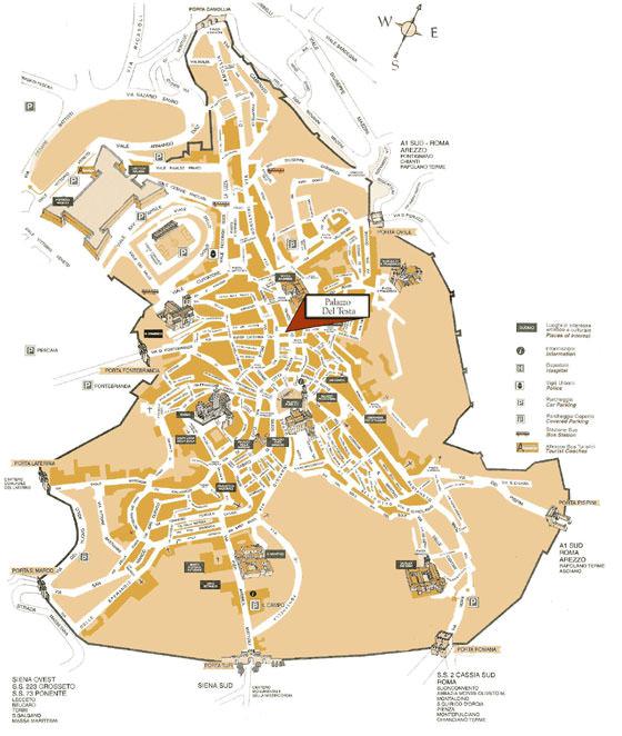 Karte von Siena 4