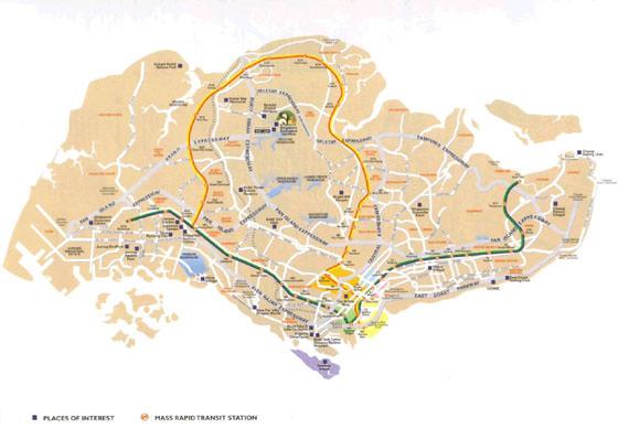 Gran mapa de Singapur 1