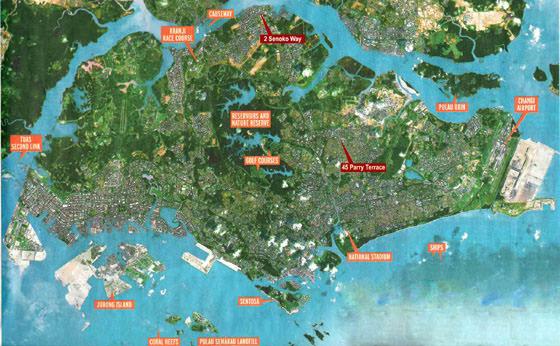 Mapa detallado de Singapur 2