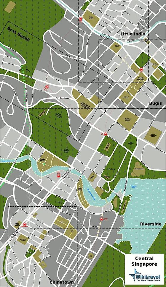 Gran mapa de Singapur 5