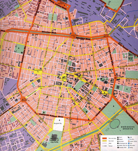 Detailed map of Sofia 2