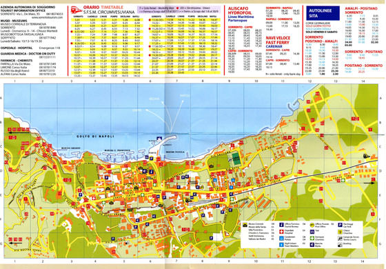 Large map of Sorrento 1