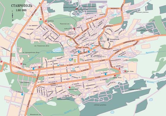 Карта Ставрополя 1
