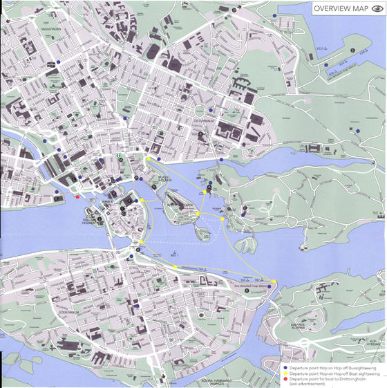 Large map of Stockholm 1