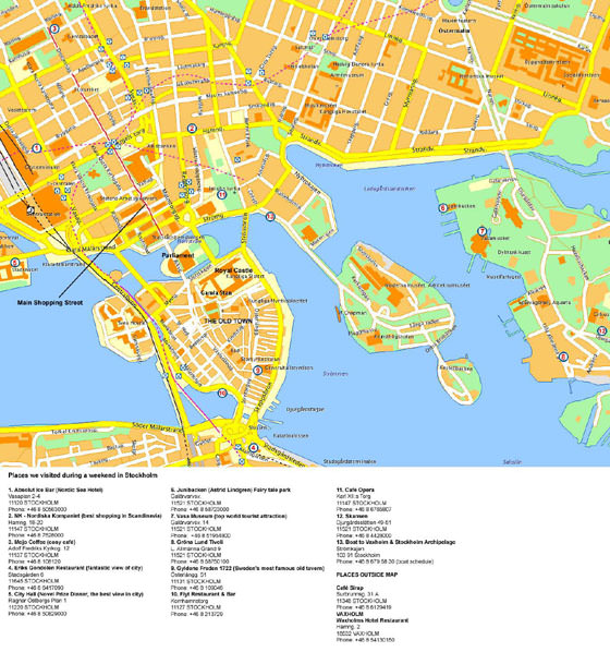 Detailed map of Stockholm 4