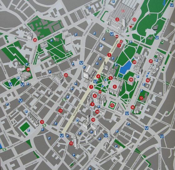 Large map of Stuttgart 1