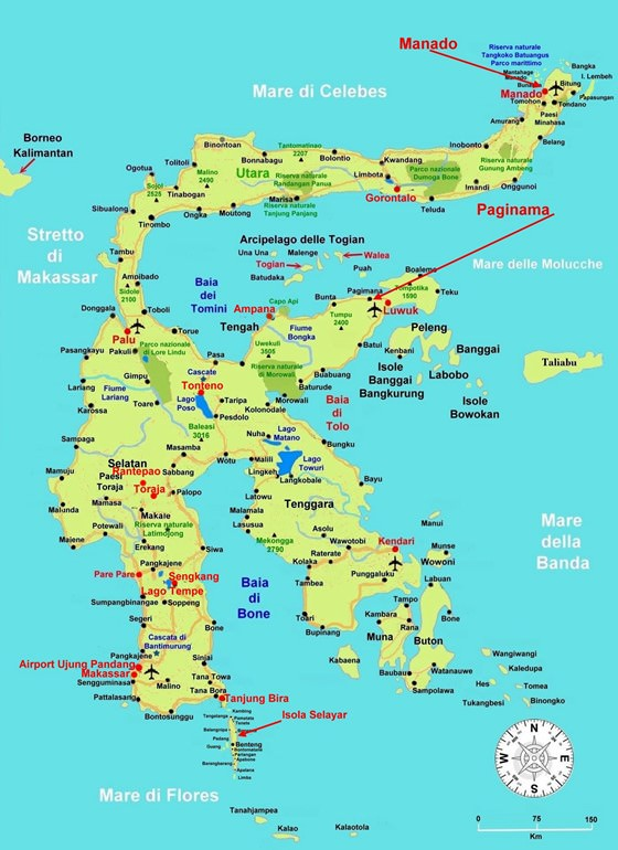 Sulawesi Island map 1