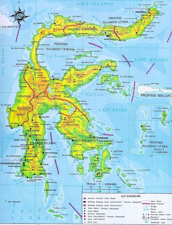 Sulawesi Island map 2