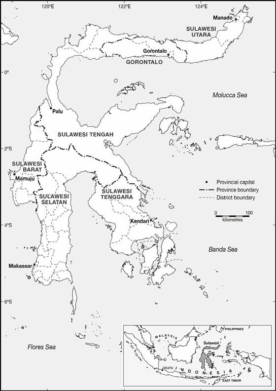 Sulawesi Island map 4