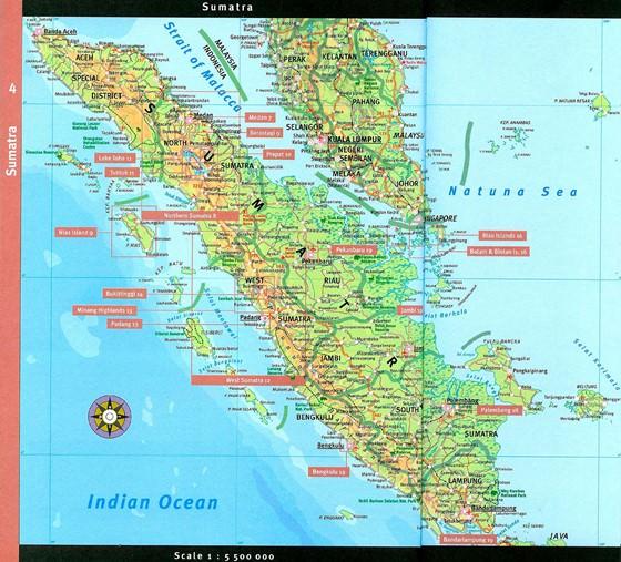 Large map of Sumatra 1