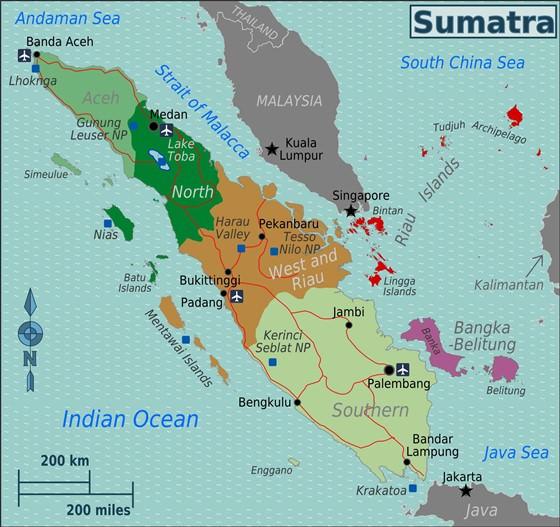 Large map of Sumatra 3