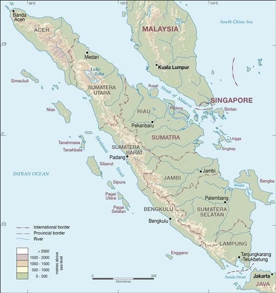 Detailed map of Sumatra 4