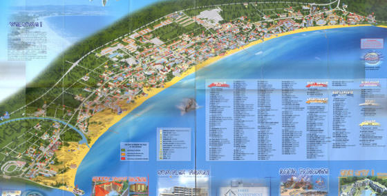 Large map of Sunny Beach 1