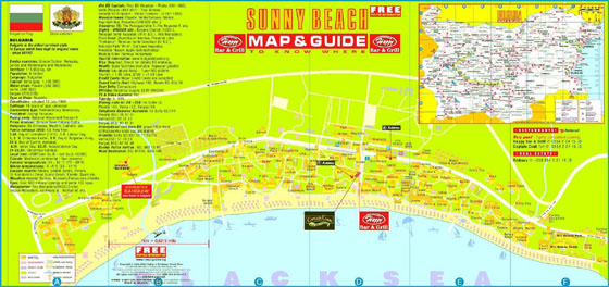 Detailed map of Sunny Beach 2