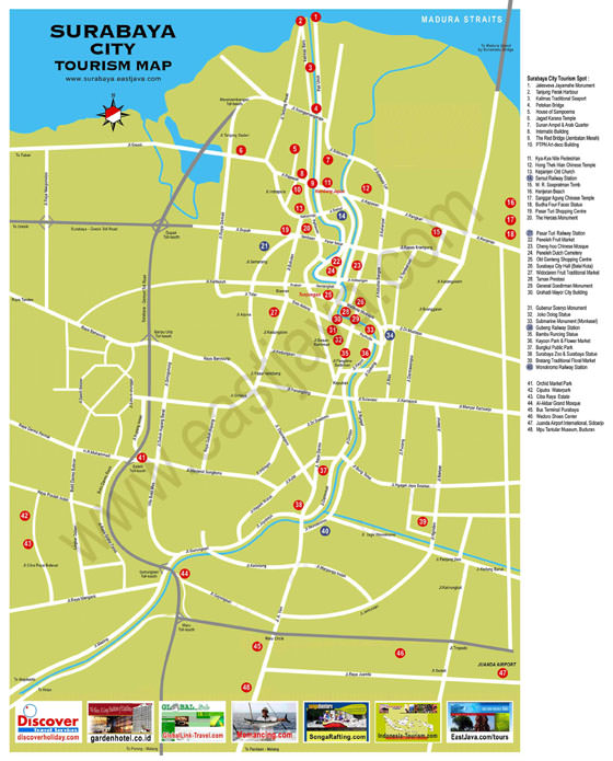 Large map of Surabaya 1