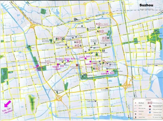 Large map of Suzhou 1