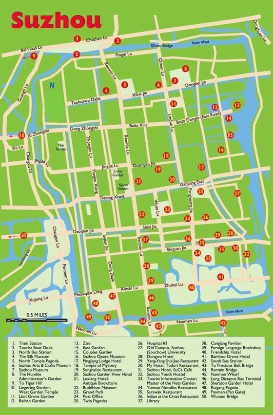 Detailed map of Suzhou 2