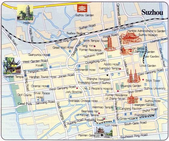 Large map of Suzhou 3