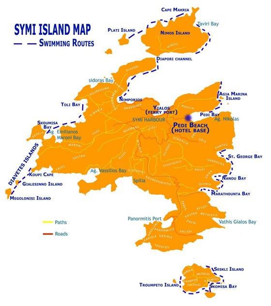 Подробная карта острова Сими 2