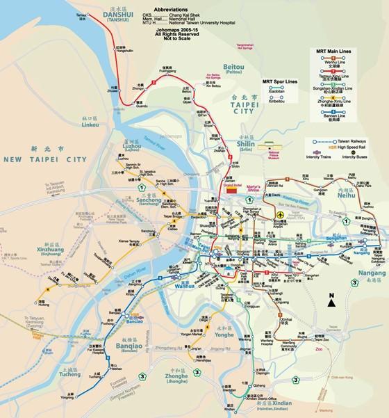 Карта Тайбэя 3
