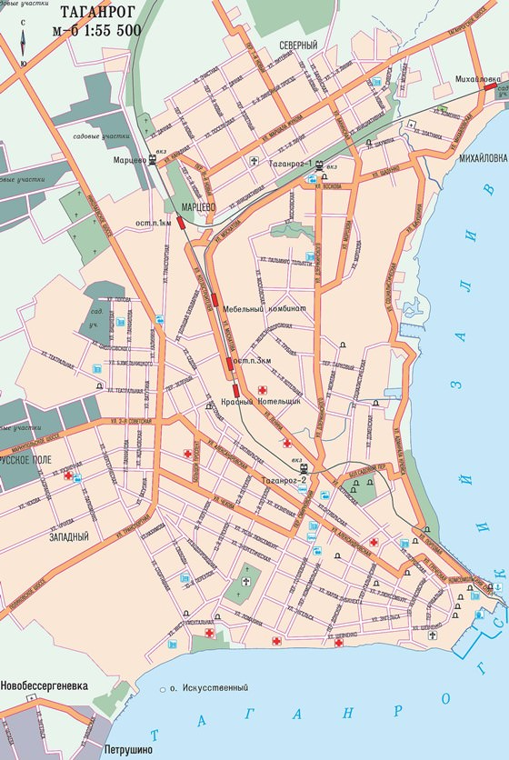 Карта Таганрога 1