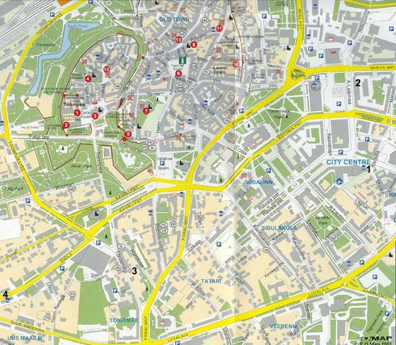 Large map of Tallinn 1