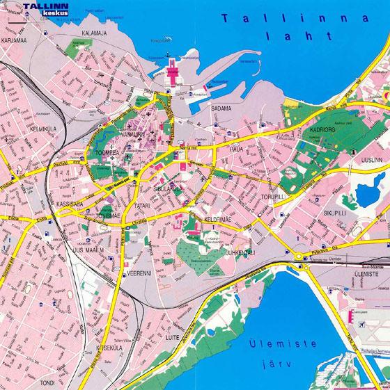 Detailed map of Tallinn 2